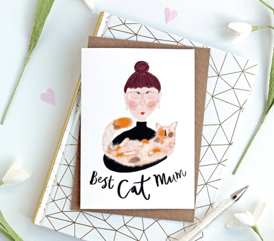 Best Cat Mum card by  KatyPillingerDesigns