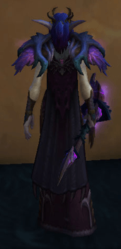 Witch of the Dark Wood [Druid] Transmog Set - Back View