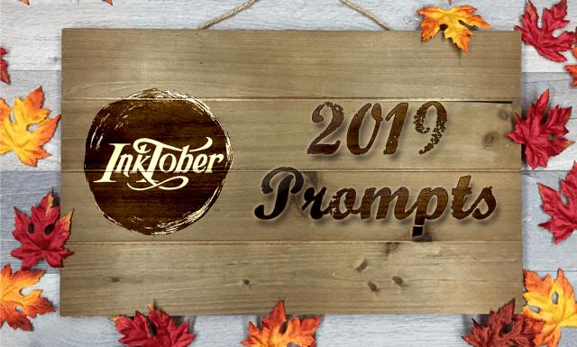 Inktober 2019 Prompts Announcement & Index