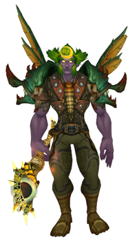 Living Wood Dragonfly druid transmog with wings - front view