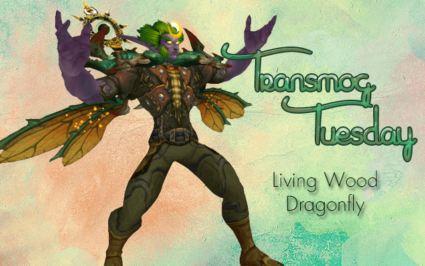 Living Wood Dragonfly - Druid Transmog with wings