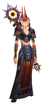 Unspeakable Madness transmog set - front view sheathed