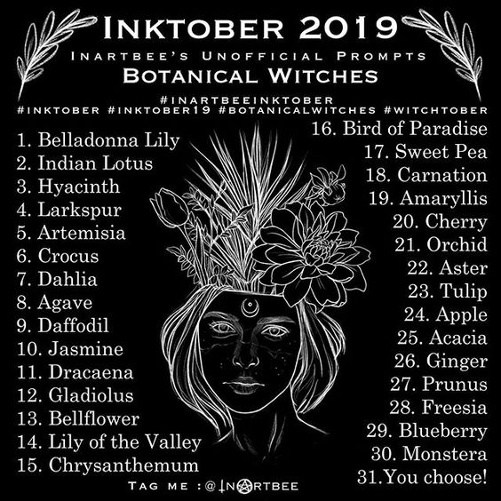 Botanical Witches Inktober 2019