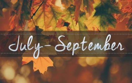 Geeking By in July, August & September