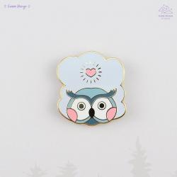 Cloud Owl Enamel Pin
