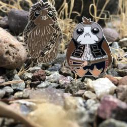 Star Wars Han Porgolo and Porgbacca Enamel Pins