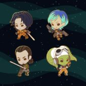 Star Wars Rebels Chibi Enamel Pins