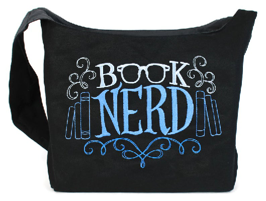 Book Nerd embroidered sling bag by Tenacitee