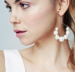 Swarovski Pearl Statement Hoop Earrings