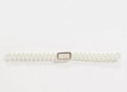 pearl embellished stretch belt
