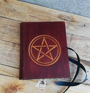 Wooden Pentacle journal  from Etsy