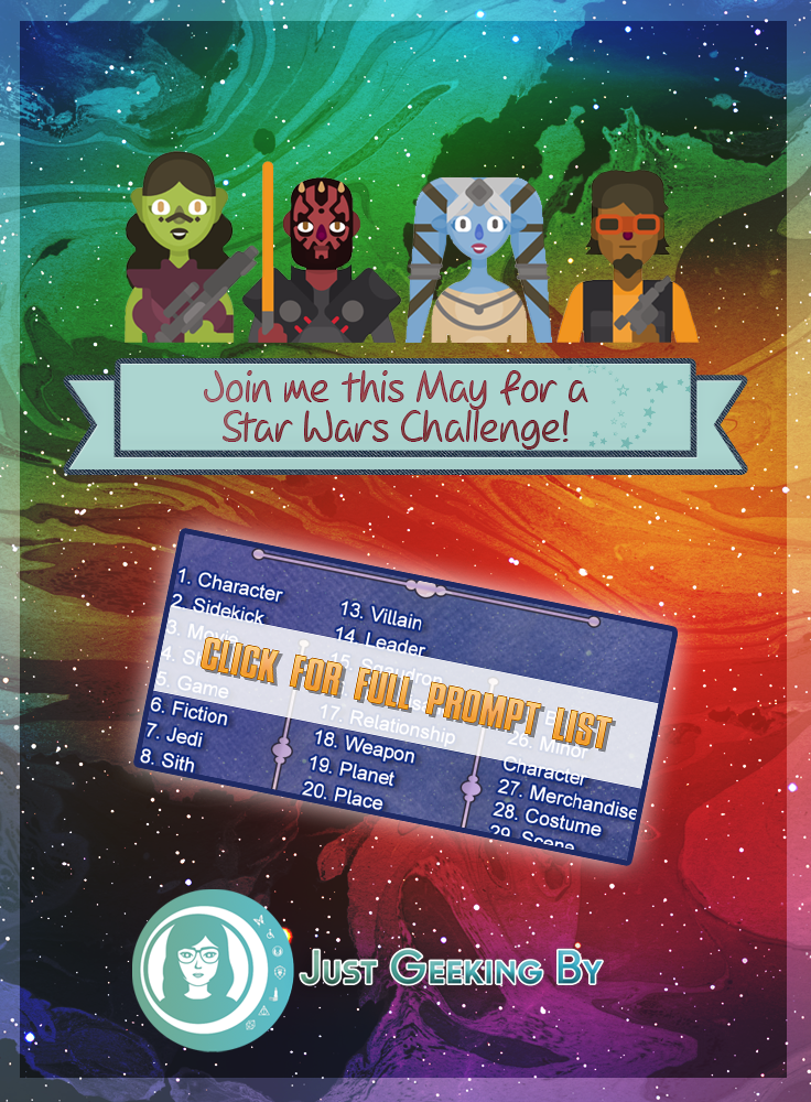 Pin This - Join me this May to celebrate our love of Star Wars all month long with a 30 day Star Wars Challenge on your blogs or social media!