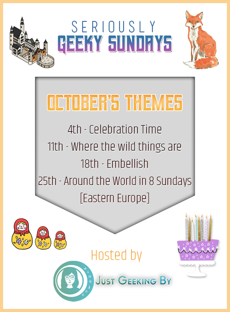 Seriously Geeky Sundays October Questions: Seriously Geeky Sundays October prompts are taking us on a wild ride this month as we tackle celebrations, creatures, visual locations & more.