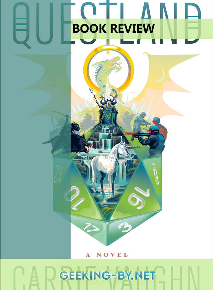 Book Review: Questland by Carrie Vaughn - My book review for Carrie Vaughn's brand new release Questland, a fantasy thriller about an island where magic has been brought to life with technology.