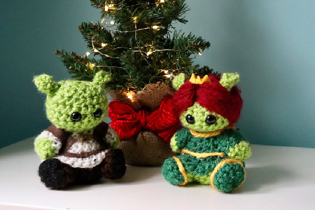 Princess Fiona and Shrek Crochet Plushies