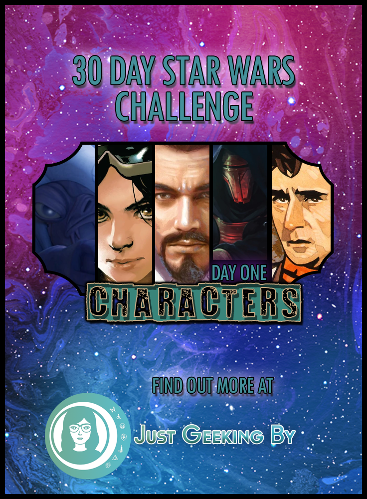 Star Wars Challenge: Day 1 - 5 of my Favourite Star Wars Characters!: It's day 1 of my Star Wars challenge & I'm kicking it off by talking about five of my favourite Star Wars characters!