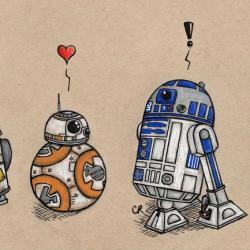 Star Wars Droids Print