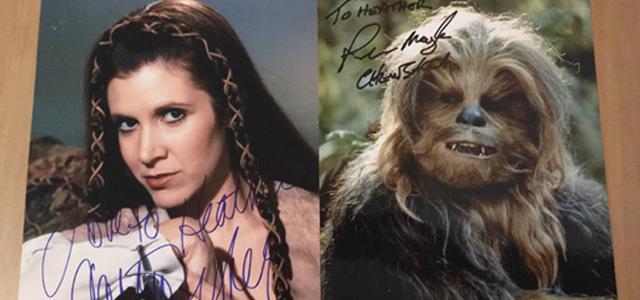 Star Wars Challenge: Merchandise - Carrie Fisher & Peter Mayhew Signatures