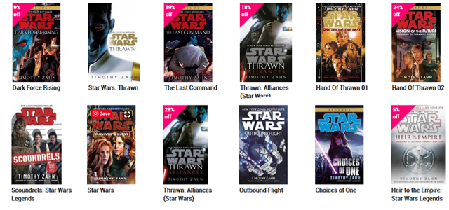Star Wars Challenge: Fiction - Novels by Timothy Zahn