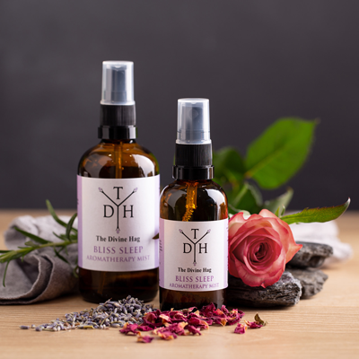 Win a set of aromatherapy products from The Divine Hag #GeekDis!: Blissful Sleep Aromatherapy Mist Spray. null