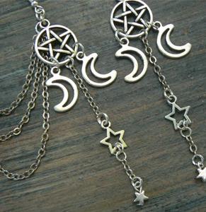 Triple moon earring cuff set from Etsy