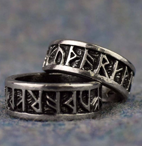 Viking Runes Ring from Etsy