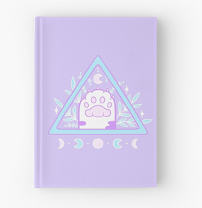 Witchy cat paw journal from Red Bubble