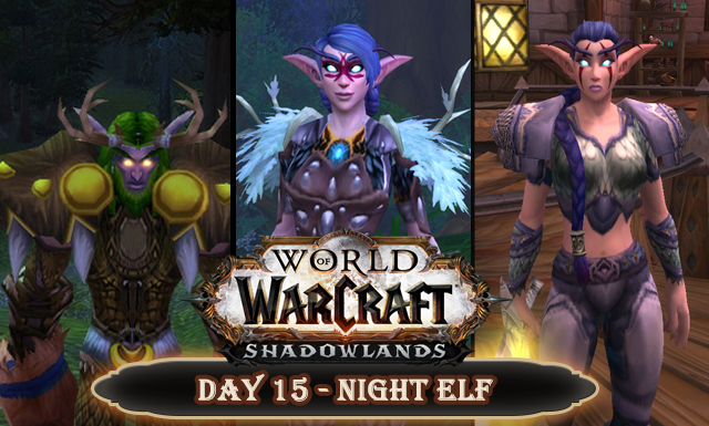 Countdown to Shadowlands Day 15 - Three Night Elves that caught my attention
