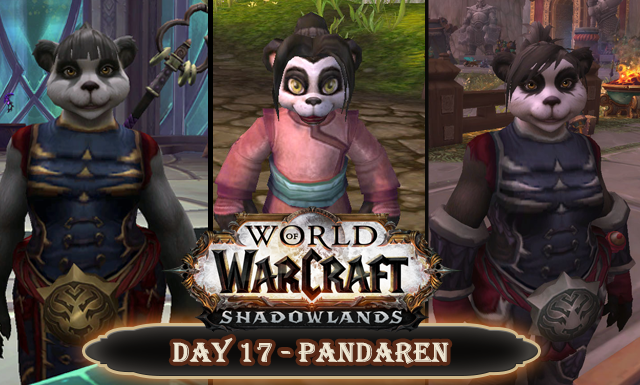 Countdown to Shadowlands Day 17 - Three fascinatig Pandaren Ladies