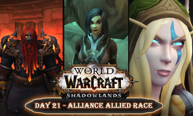 Countdown to Shadowlands Day 21 - My favourite Alliance allied race characters