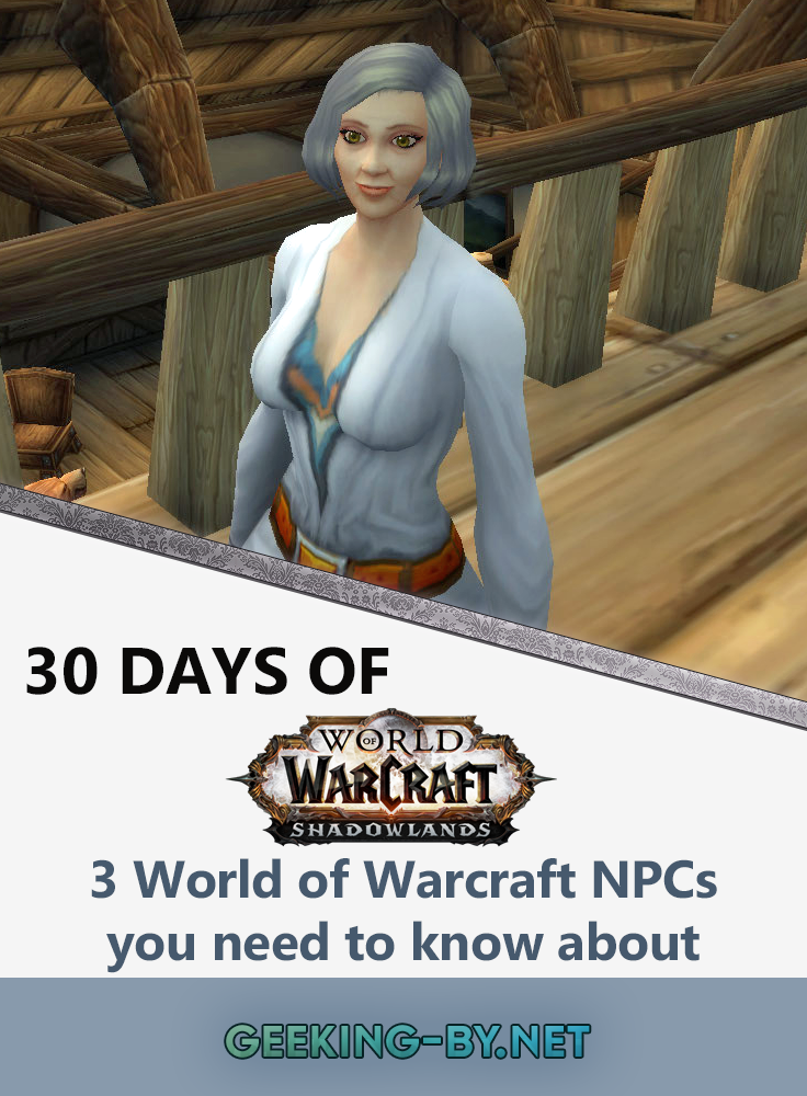 Countdown to Shadowlands Day 24 - Three World of Warcraft NPCs you need to know about: Every game has minor NPCs and World of Warcraft is no different. Let me tell you about three World of Warcraft NPCs that you need to know.